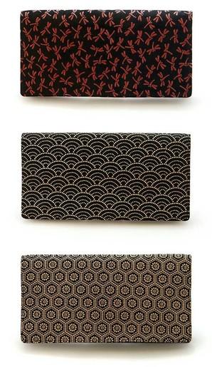 【江戸印伝】 日本製 二つ折り 長財布 メンズ 漆 レザー