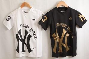 Majestic NY ニューヨークヤンキース キッズ デカロゴ ラッシュガード 16枚入り 0290