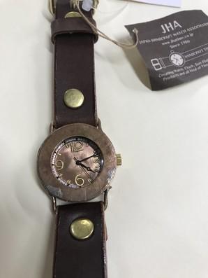 値下げ JHA 日本製 ハンドクラフト 時計 定価15000円
