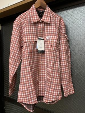 土曜市!ミレー チェックシャツメンズSサイズ1点のみ!定価16000円