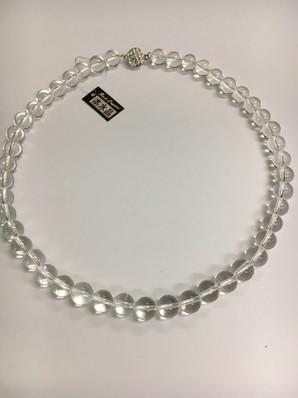 <特価>天然石10MM(45cm)水晶ネックレス