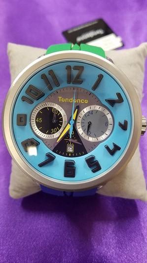在庫処分特価!テンデンス TENDENCE クレイジー クロノ 腕時計  動作OK 1個のみ