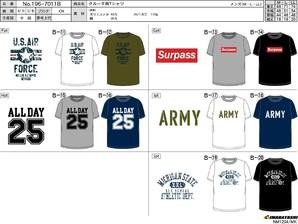 クルー半袖Tシャツ タイプB 30枚入り 196-7011B