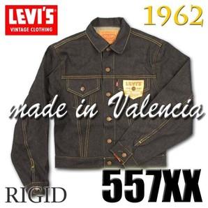 LEVIS メンズ 1962年 557XX 復刻版 トップボタン裏 555 バレンシア プリシュランク XXデニム ビッグE 1枚だけ 超レア物