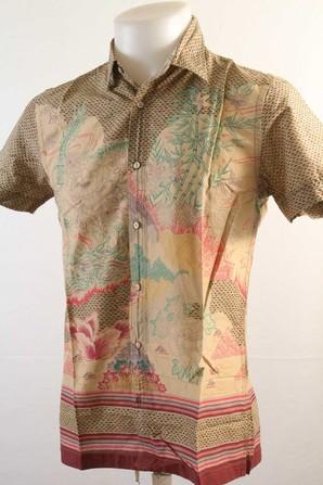 大特価!リプレイ [REPLAY] メンズ ヴィンテージ アロハシャツ 和柄 1枚!