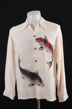 先着1枚のみ イオラニ 日本製 29000円上代 鯉柄シャツ 画像使用OK